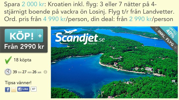 resa till kroatien billigt hotell