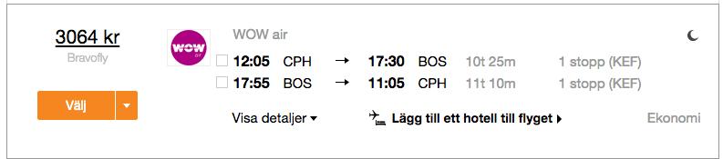 billiga flyg till boston