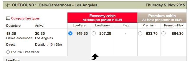 flyg till LA billiga blyg