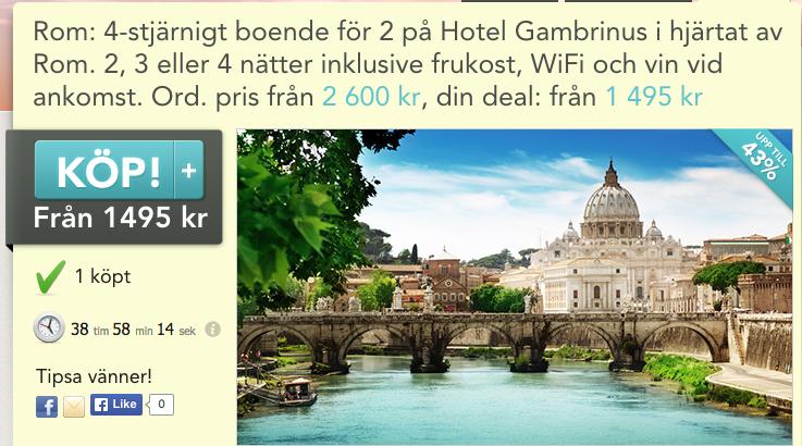 resa billigt rom