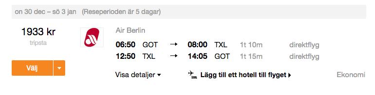billiga flyg till berlin