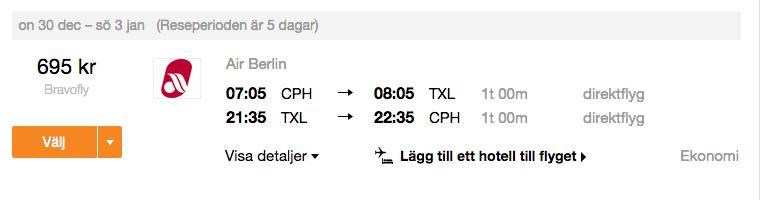 billiga flyg berlin