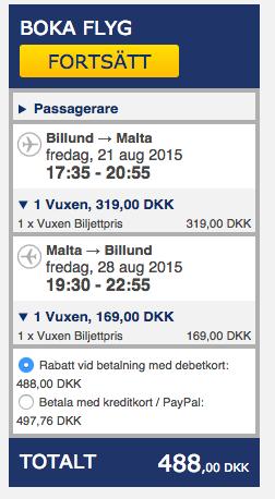 billiga flyg till malta