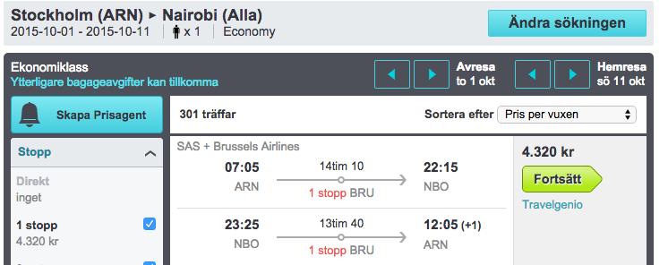 billiga flyg till kenya