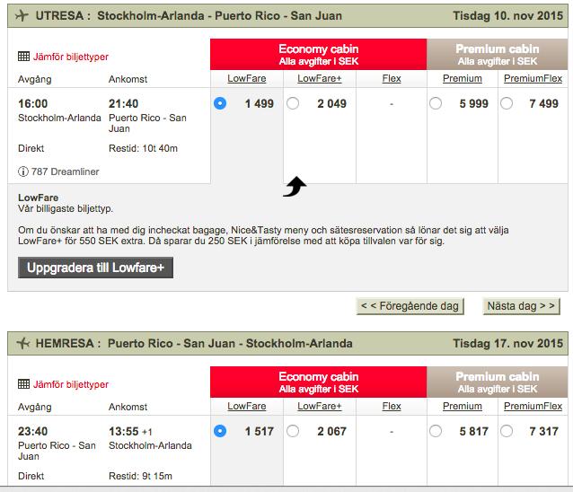 billiga flyg till puerto rico