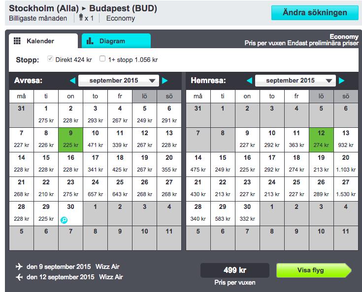 billiga flyg budapest