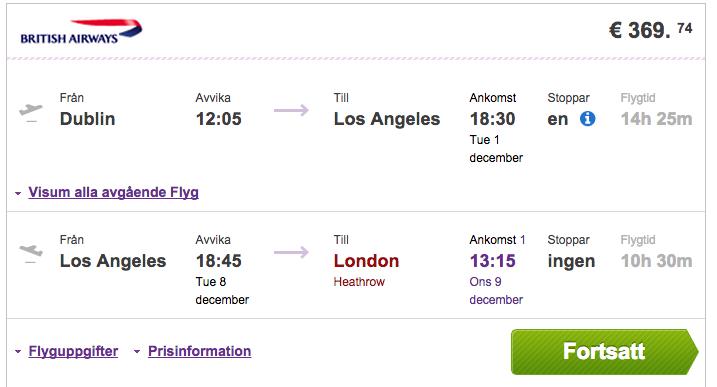 flygbiljetter till london