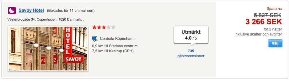 prisvärt hotell köpenhamn