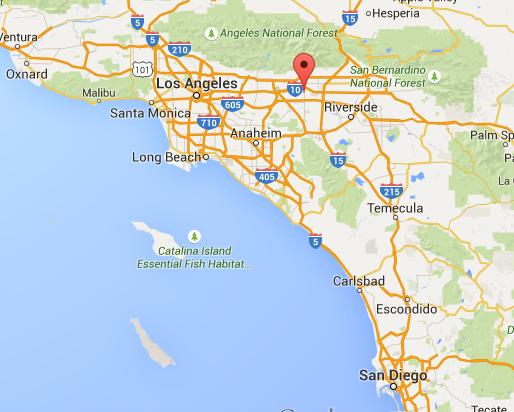 karta kalifornien