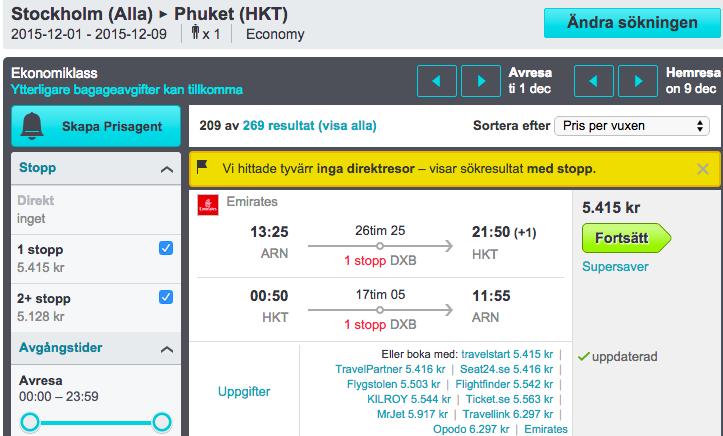 flyg billigt till thailand