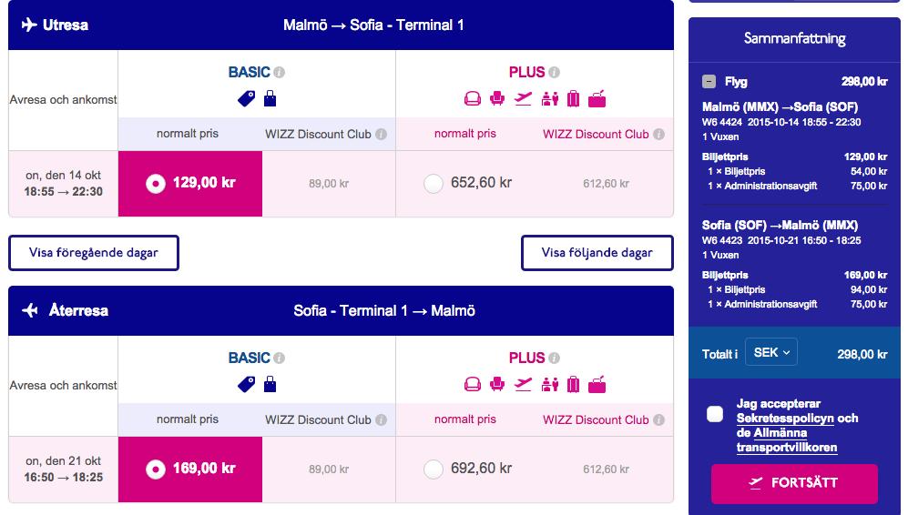 billiga flyg bulgarien