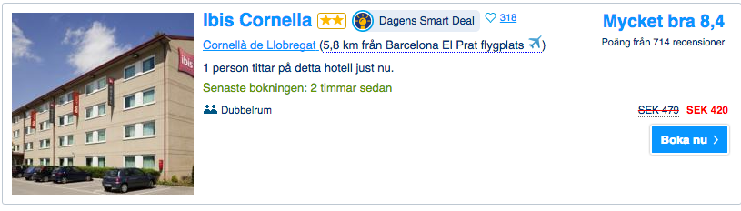 hotell barcelona flygplats